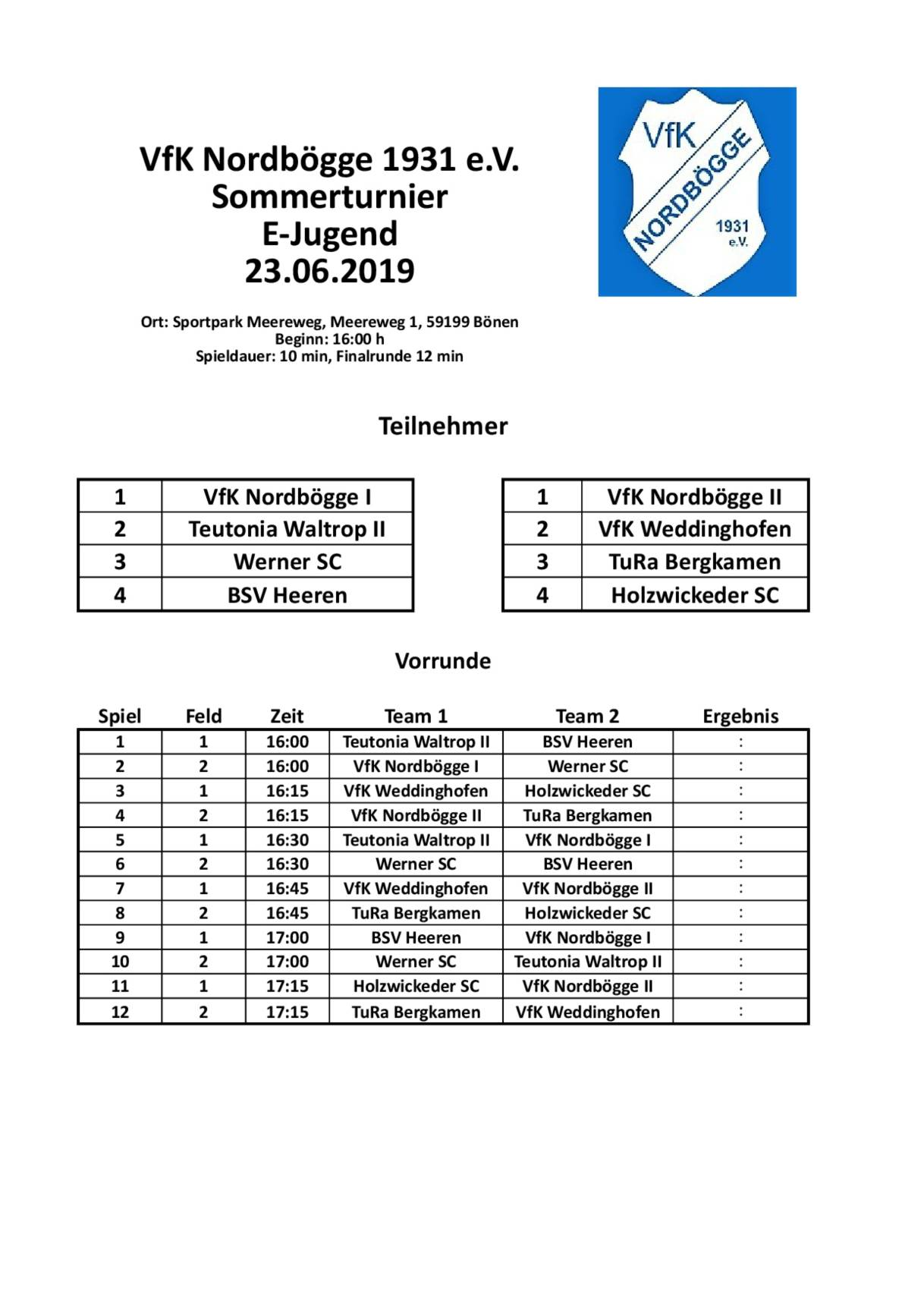 Spielplan Download